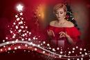 Estrelas em árvore de Natal