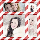 Christmas collage 4 pictures Barley sugar