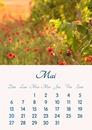 Kalender maj 2018 kan udskrives i A4-format