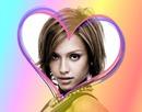 Heart ♥ flerfarvede baggrund