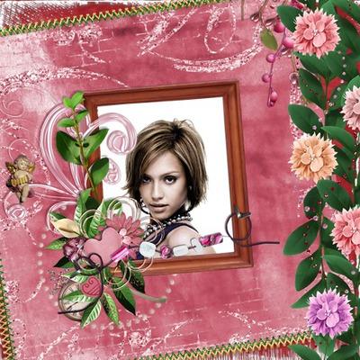 Náramok z ružových kvetov