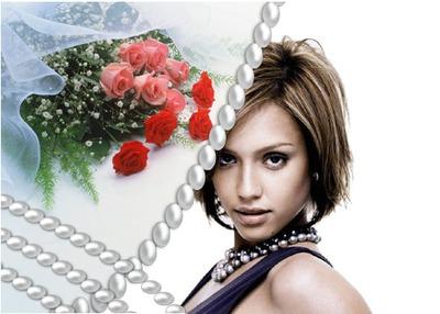 Букет от перлени рози