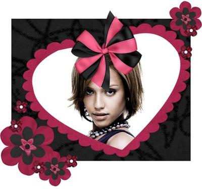 Coração Nó Flores ♥