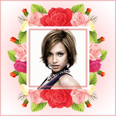 Stilizirani cvjetni okvir Majčin dan