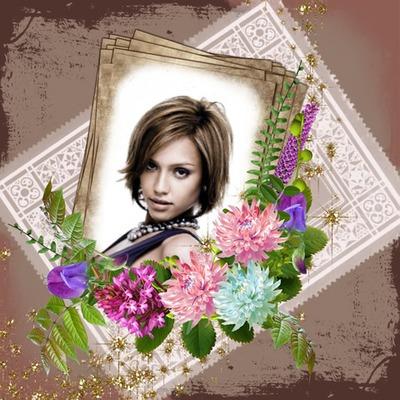 Papper och blommor
