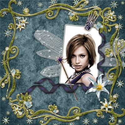 Fata cornice bacchetta magica nastri