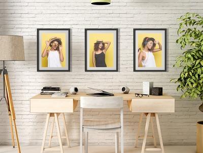 3 mesas en una oficina