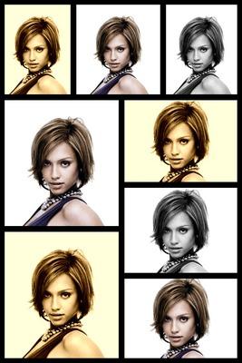 Foto montāžas rāmis sēpijas melnbaltā krāsā 8 attēli