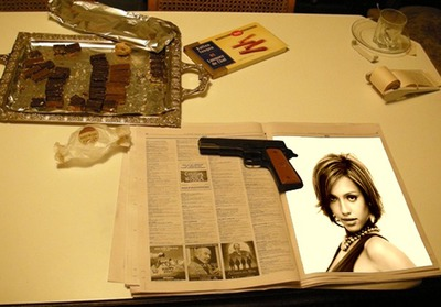 Lehti Office Gun Scene