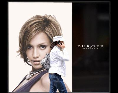 Burger reklame plakat