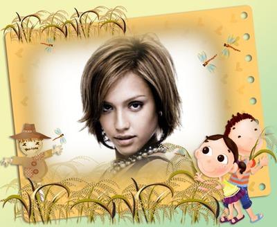 Child frame Wheatfield Scarecrow