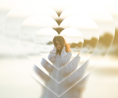 Blurred heart repetition