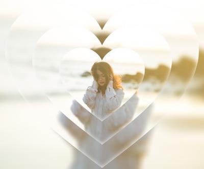 Repeated blurred heart