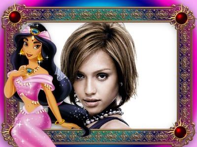 Cadre enfants Princesse Jasmine