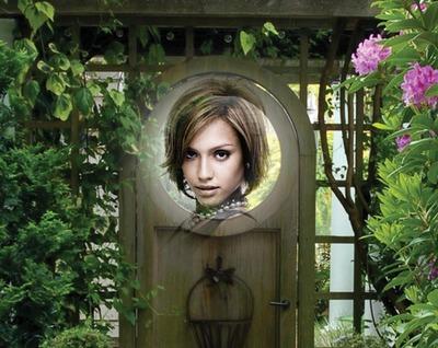 Porta de jardim e Flores