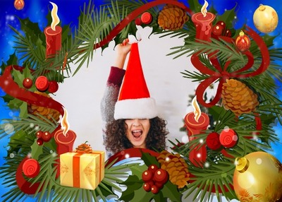 Weihnachtskerze Dekoration