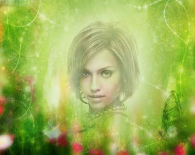 Fade verde Borboleta