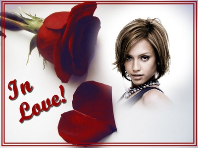 Photo montage Red rose In love - Pixiz