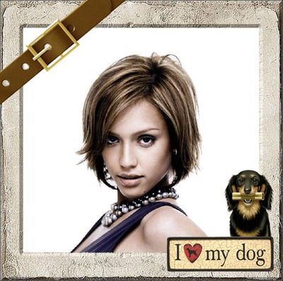Halsband I love my dog ​​Hart