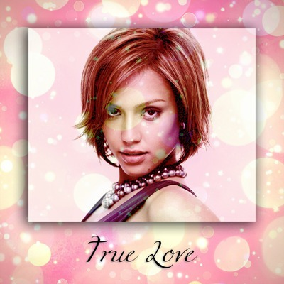 Love Pink Glitter Card