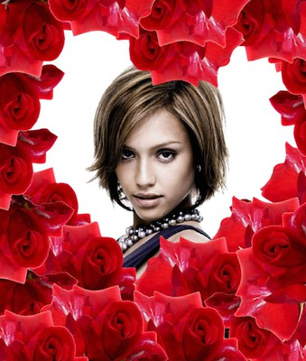 Coeur dans roses ♥