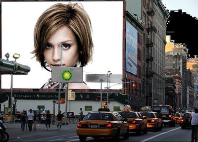 Amerika - reklamná plagátová scéna