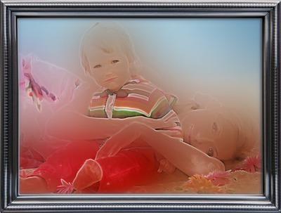 Kovový rám Fotografie s efektom snov