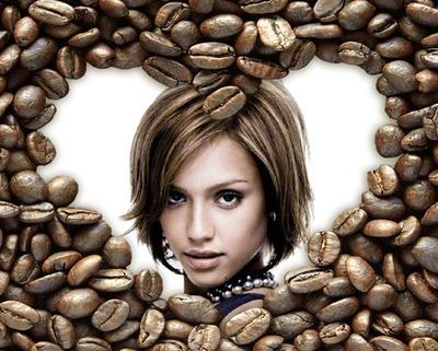 Herz Kaffeebohnen ♥