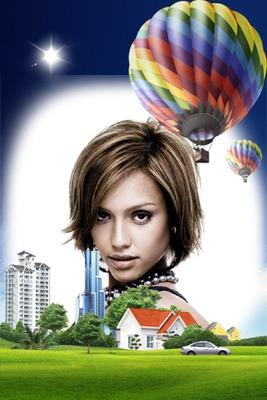 Hot-air balloon Town