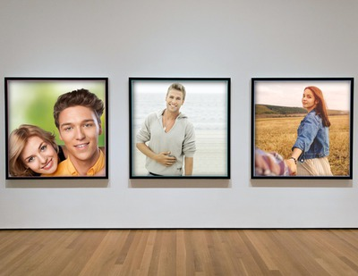 3 photograph in an art gallery