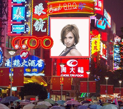 Billboard Hong Kong Causeway Bay Scene