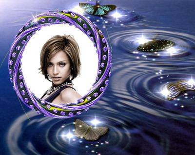 Виолетови скъпоценни камъни Пеперуди