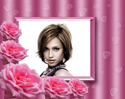Kis szív és rózsák