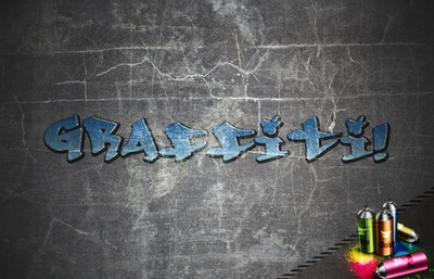 Graffiti Tag Text Blue
