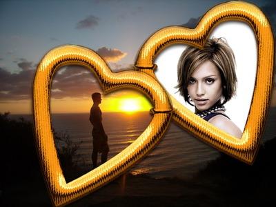Χρυσές καρδιές ♥ Ηλιοβασίλεμα