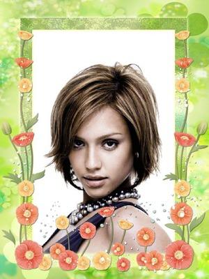 Zaļais rāmis Ziedi Daba