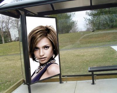 Bus kanlungan sa advertising