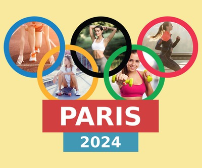 Olympic games Paris 2024 with 5 pictures and personal text