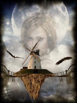 Fantastisk vindmøllemåne