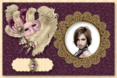 Venice Carnival strutsfjäder Venetian Mask