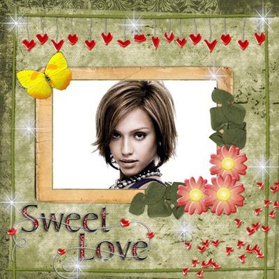 Sweet pag-ibig Paru-paro Puso Bulaklak