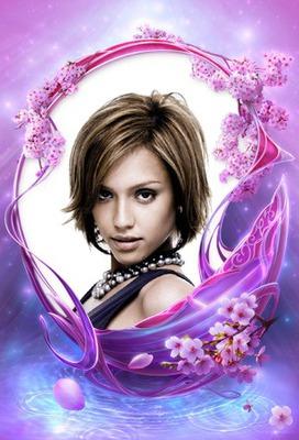 Fleurs violettes Fantasy