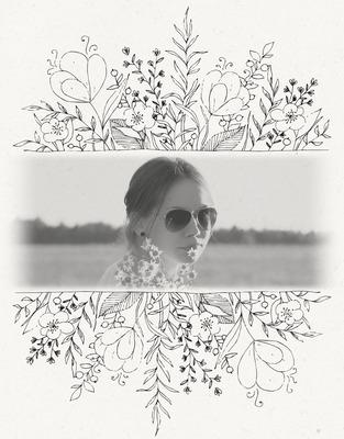 Foto dekorēts ar ziediem