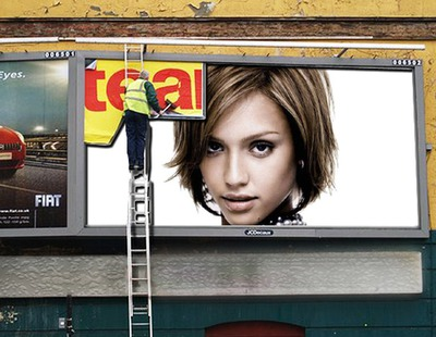 Реклама плакат сцена JCDecaux