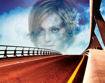 Scena del ponte del cielo blu