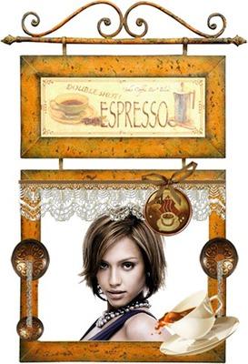 Πίνακας Καφές Espresso Πλακάτ