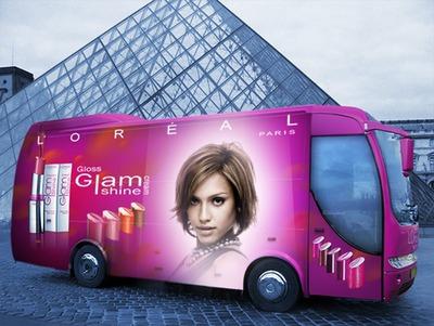 Otobüs L'Oréal Sahne