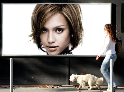 Woman Dog BIllboard