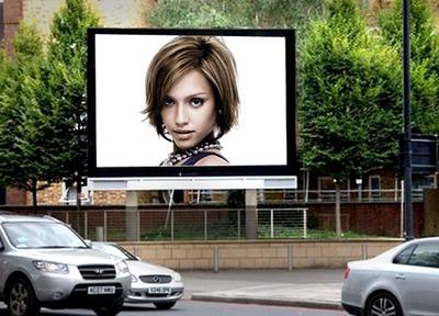 Scena del manifesto pubblicitario