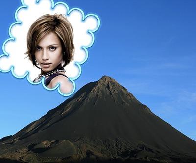 Krajobraz wulkanu